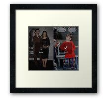 Robert Downey Jr. fangirl edit with exton and susan (team downey) Framed Print