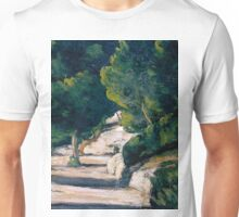 1870 - Paul Cezanne - Landscape. Road with Trees in Rocky Mountains Unisex T-Shirt