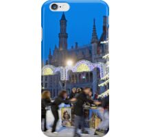 Skating rink at Christmas, Markt, Bruges, Belgium iPhone Case/Skin