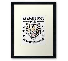 Savage Roots MMA Tiger Framed Print
