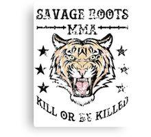 Savage Roots MMA Tiger Canvas Print