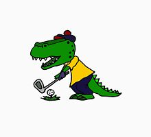 Cool Funny Alligator Playing Golf Unisex T-Shirt