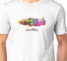 Curitiba skyline in watercolor Unisex T-Shirt