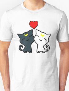 Sailormoon Cats Luna and Artemis Unisex T-Shirt