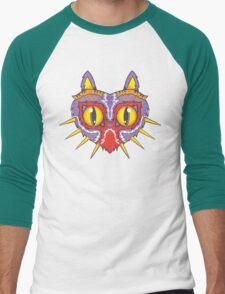 Meowjora's Mask Men's Baseball ¾ T-Shirt