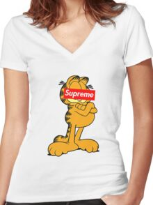 Garfield Supreme Women's Fitted V-Neck T-Shirt