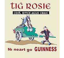 GUINNESS VINTAGE GUINNESS IN IRISH GAELIC Photographic Print