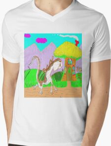 Lulu The Hulu Goes Walking One Fine Day In The Spring Mens V-Neck T-Shirt