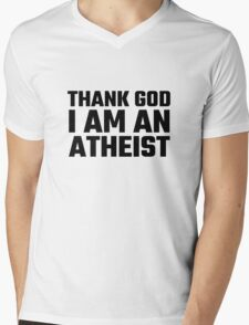 Atheism Anti Religion Quote Funny Atheism Quote Richard Dawkins Mens V-Neck T-Shirt