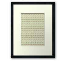 Fried Green Tomatoes Pattern Framed Print