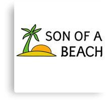 Beach Summer Vacation Bitch Funny Humour Wordplay Canvas Print