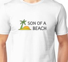 Beach Summer Vacation Bitch Funny Humour Wordplay Unisex T-Shirt