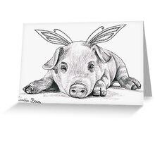 Adorable Fairy Piggy Greeting Card