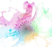 Flower Birthday Card Sticker