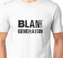 Blank Generation Punk Rock Richard Hell 80s Song Lyrics Unisex T-Shirt