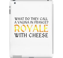 Funny Pulp Fiction Drawn Together Movie Quote Royale with cheese iPad Case/Skin