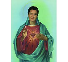 Sacred heart of Elvis Photographic Print