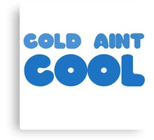 Winter Snow Cool Cold Funny Joke Wordplay Clever Ice Canvas Print