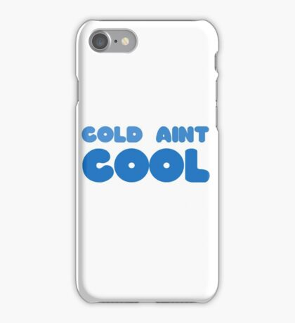 Winter Snow Cool Cold Funny Joke Wordplay Clever Ice iPhone Case/Skin