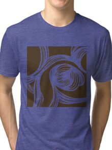flower #1 in mocha Tri-blend T-Shirt