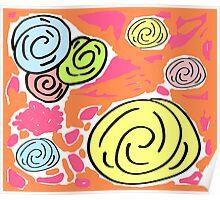 Retro Spring Bouqet  -Tropical Poster