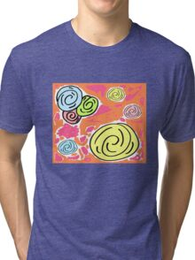 Retro Spring Bouqet  -Tropical Tri-blend T-Shirt