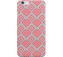 Pixel art abstract pink hearts iPhone Case/Skin