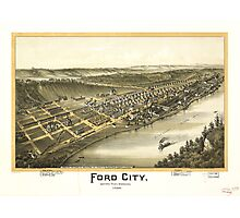 Ford City Pennsylvania (1896) Photographic Print