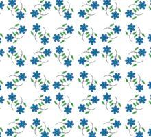 Blue flowers pattern Sticker