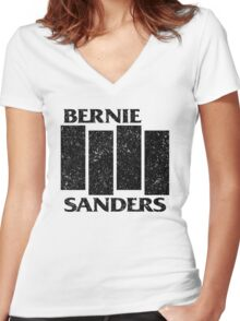 Bernie Flag  Women's Fitted V-Neck T-Shirt