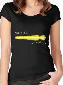 Sound WAV - U2 Women's Fitted Scoop T-Shirt
