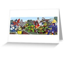 tmnt and transformers Greeting Card