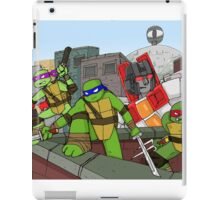 tmnt and transformers iPad Case/Skin