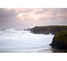 giant white waves and cliffs on the wild atlantic way Photographic Print