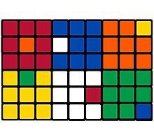 Mixed Up Cube - Rubiks Photographic Print