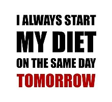 Diet Tomorrow Photographic Print