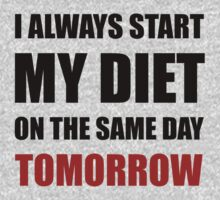 Diet Tomorrow One Piece - Short Sleeve