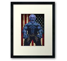 Bernie Sanders - superhero version Framed Print