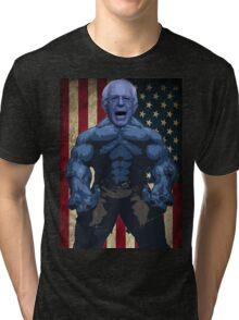 Bernie Sanders - superhero version Tri-blend T-Shirt