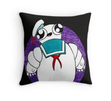 Mr Stay puft marshmallow man Throw Pillow