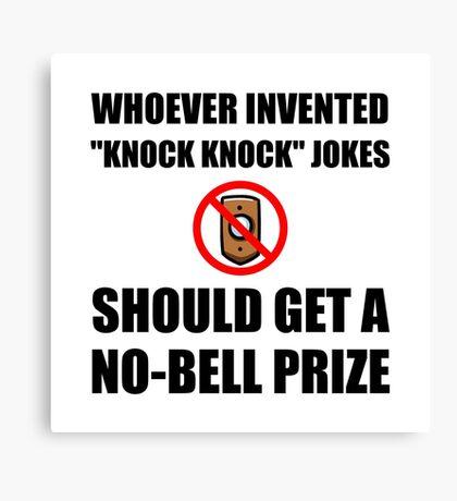 Knock Knock Joke No Bell Canvas Print