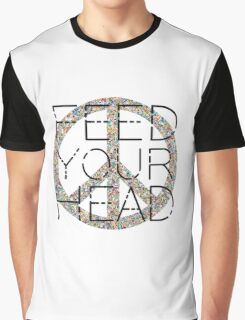 Peace Sign Feed your head Jefferson Airplane 60s Music Lyrics Graphic T-Shirt