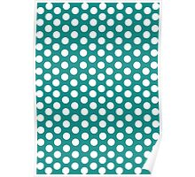 Polka Dots pattern in colours Poster