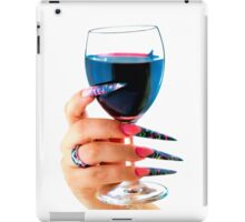Glass of red wine iPad Case/Skin