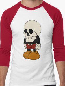 Mickey Mouse Skull Men's Baseball ¾ T-Shirt