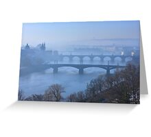 Bridges of Vltava - Prague Greeting Card