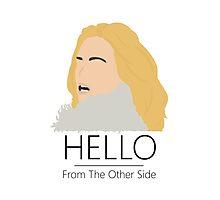 Adele Hello 25 Singer Artist Fan Art Unofficial Music Design Photographic Print