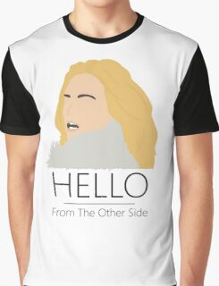 Adele Hello 25 Singer Artist Fan Art Unofficial Music Design Graphic T-Shirt