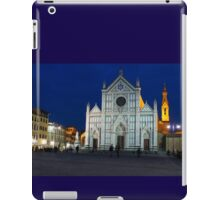Blue Hour - Santa Croce Church in Florence, Italy iPad Case/Skin