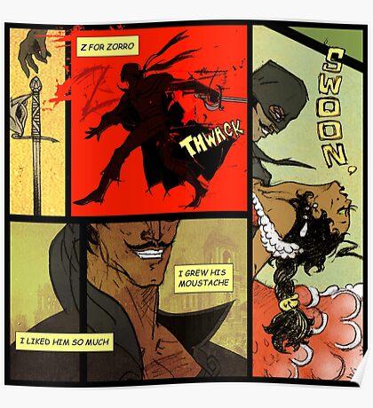 Mark of Zorro - comic Poster